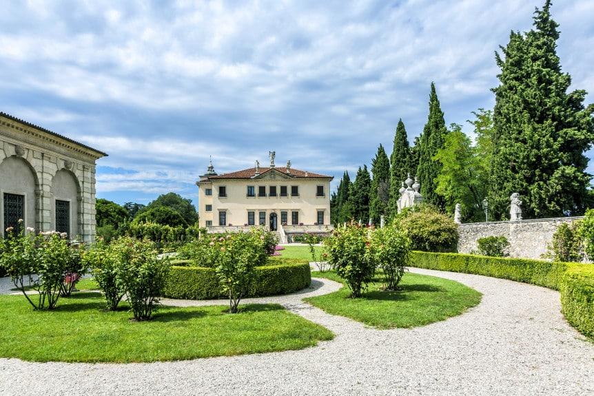 VICENZA ITALY - AUG 4 2009: Villa Valmarana ai Nani Vicenza Italy. Francesco Muttoni built the villa for Gian Maria Bertolo in 1669.